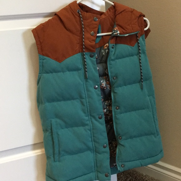 Gymboree Girls Mushroom Print Puffer Vest Navy Blue NWT Faux Fur Collar Pockets